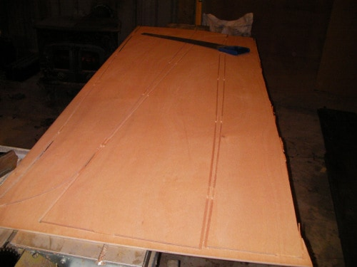 Canadian Canoe made from marine ply, Canoe, 20' Freight Canoe