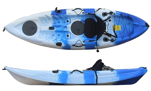 H2O EXCURSION FISHING/FUN KAYAK INCLUDES SEAT, SCUPPERS & PADDLE
